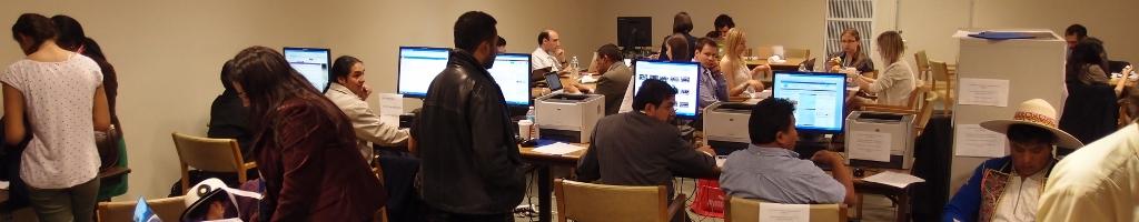 Secrétariat techniqueUn espace offert par le Docip aux délégués autochtones lors des conférences internationales